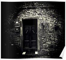 What lies behind the door? Poster