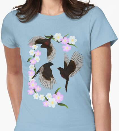 Three Sparrows Womens Fitted T-Shirt