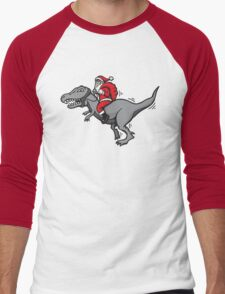 Christmas dinosaur - Santa Claus Rex Men's Baseball ¾ T-Shirt
