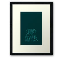 Love is in the Hair Framed Print