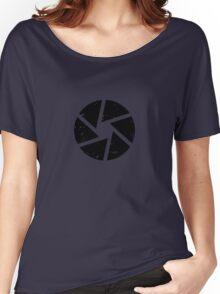 Iris Logo, black Women's Relaxed Fit T-Shirt