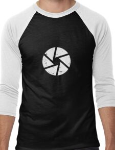 Iris Logo, White Men's Baseball ¾ T-Shirt