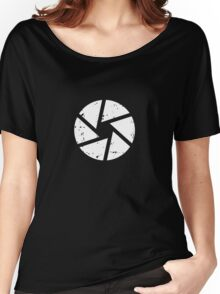 Iris Logo, White Women's Relaxed Fit T-Shirt
