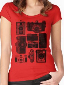 Old Cameras Women's Fitted Scoop T-Shirt