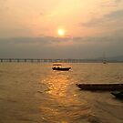 Hong Kong - Sunset at Fishing bay (centre) by Pegasi Designs