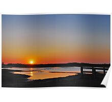 Sunset over Schouwen Poster