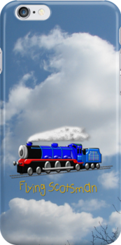 Flying Scotsman for Kids iPhone case by Dennis Melling