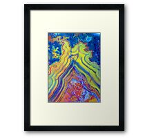 Fire Mountain (Lace Agate) Framed Print
