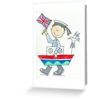Fancy Dress Parade Sailor Boy  Greeting Card