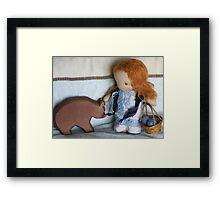 Lacey and the Bear Framed Print