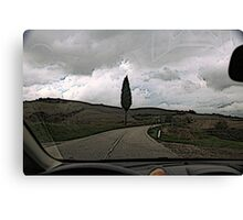 On the road to Florence Canvas Print