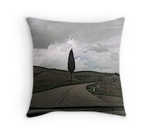 On the road to Florence Throw Pillow