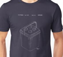 The Lego Patent Of Bucket In White Version Unisex T-Shirt
