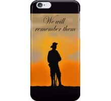 We will remember them iPhone Case/Skin