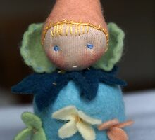 Little Blue Blossom Gnome by TillyTilda