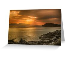 Sunset over Lismore Island Greeting Card