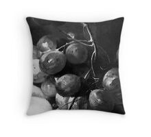 Grape & Peach Throw Pillow