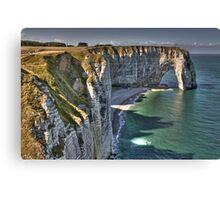 Normandy's White Cliffs - Etretat Canvas Print