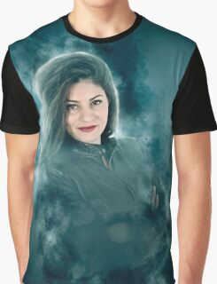 Young hipster woman during a winter storm  Graphic T-Shirt