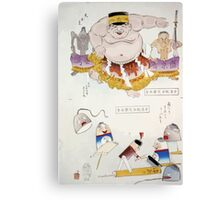 Humorous pictures depicting the Chinese 001 Canvas Print