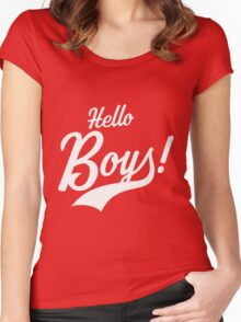 Hello Boys! Women's Fitted Scoop T-Shirt