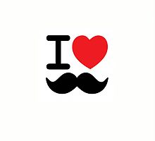 I Love Mustaches iPhone Case by Ryan Dell
