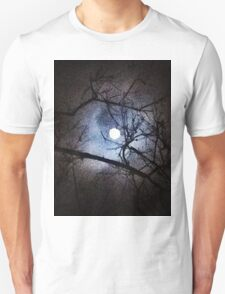 The Full Moon Between Branches T-Shirt