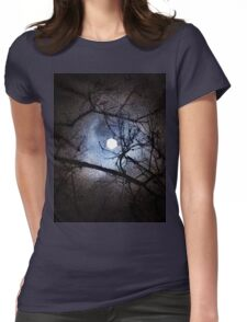 The Full Moon Between Branches Womens Fitted T-Shirt