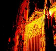 York Minster, Gothic light. Sticker