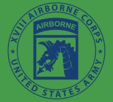 XVIII Airborne Sky Dragons Kids Tee