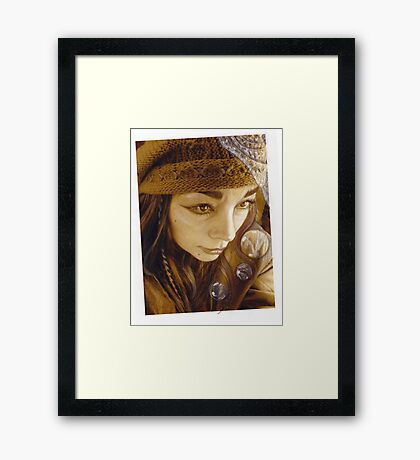 on the edge of between  Framed Print