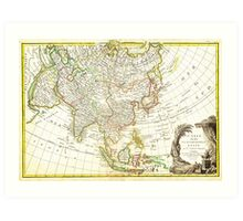 1770 Janvier Map of Asia Geographicus Asia janvier 1770 Art Print