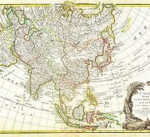 1770 Janvier Map of Asia Geographicus Asia janvier 1770 by Adam Asar