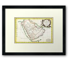 1771 Bonne Map of Arabia Geographicus Arabia bonne 1771 Framed Print