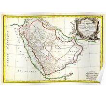1771 Bonne Map of Arabia Geographicus Arabia bonne 1771 Poster