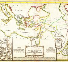 1771 Bonne Map of the New Testament Lands w Holy Land and Jerusalem Geographicus NewTestament bonne 1771 by Adam Asar