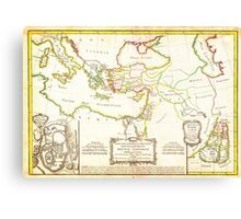 1771 Bonne Map of the New Testament Lands w Holy Land and Jerusalem Geographicus NewTestament bonne 1771 Canvas Print