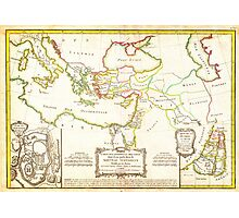 1771 Bonne Map of the New Testament Lands w Holy Land and Jerusalem Geographicus NewTestament bonne 1771 Photographic Print