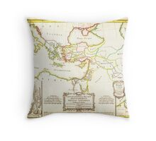 1771 Bonne Map of the New Testament Lands w Holy Land and Jerusalem Geographicus NewTestament bonne 1771 Throw Pillow
