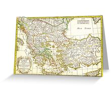 1771 Janvier Map of Greece Turkey Macedonia andamp the Balkans Geographicus TurqEurope janvier 1771 Greeting Card