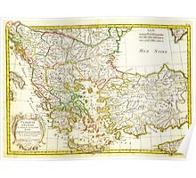 1771 Janvier Map of Greece Turkey Macedonia andamp the Balkans Geographicus TurqEurope janvier 1771 Poster