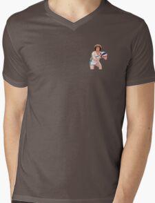 Jackie Moon - Semi Pro - Breast Logo Mens V-Neck T-Shirt