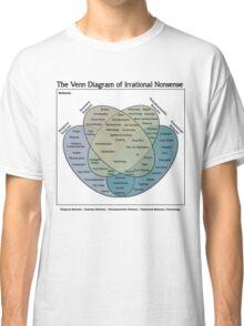 The Venn Diagram of Irrational Nonsense (White T) Classic T-Shirt