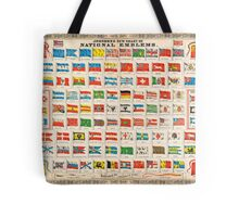 1864 Johnson Chart of the Flags and National Emblems of the World Geographicus Flags johnson 1864 Tote Bag