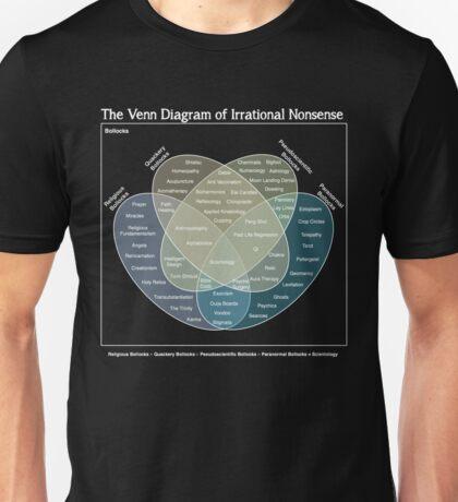 The Venn Diagram of Irrational Nonsense (Dark) Unisex T-Shirt
