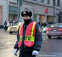 New York Traffic Officer by Keith Larby