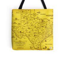 A Literary map of Texas by Dallas Pub Lib (1955) Tote Bag