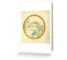 A Map of the Countries situate about the North Pole as far as the 50th degree of north latitude, ca Greeting Card