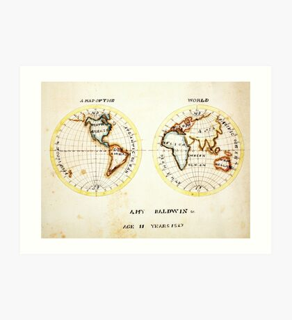 A Map of the World  Amy Baldwin sc Art Print