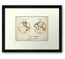 A Map of the World  Amy Baldwin sc Framed Print